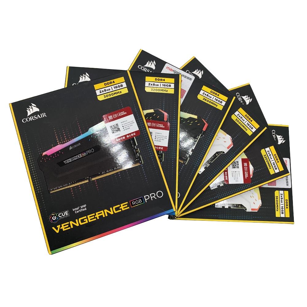 CORSAIR Vengeance DDR4 RGB PRO RAM 2 pieza 16GB Dual-Canal 3000MHz 3200MHz 3600MHz memoria de escritorio DIMM placa base de soporte Versión Global Xiaomi Redmi Nota 8 4GB RAM 64GB ROM teléfono móvil Octa Core de carga rápida 4000mAh batería de la batería 48MP Cámara Smartphone