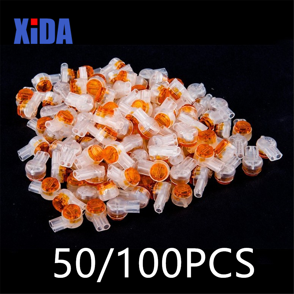 100pc Crimp Connection Terminal K1 Wiring Ethernet Cable Telephone Cord Terminal