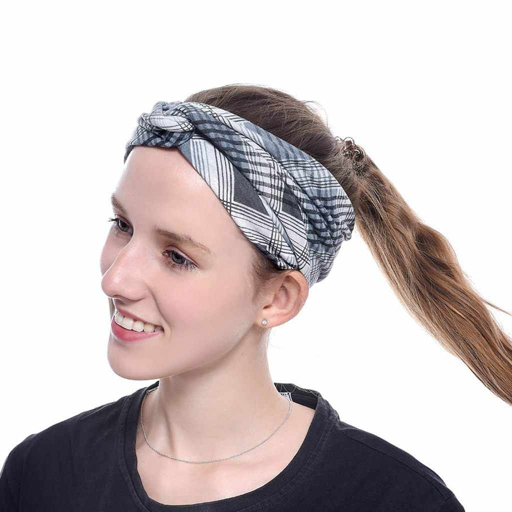 best selling 2019 products New Fashion Women Girls Headbands Sports Headband Printing Head Wraps Hair Band support dropshipping