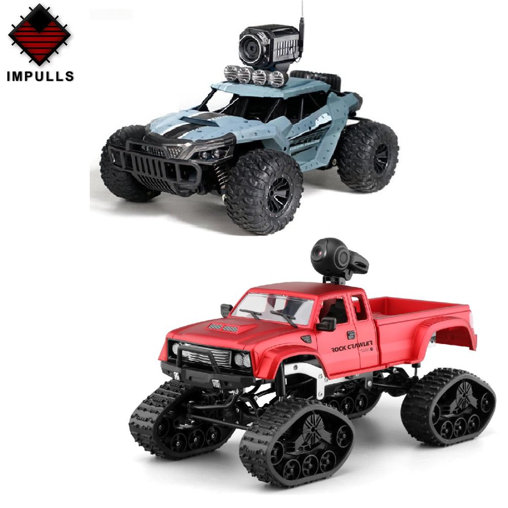 <font><b>Impulls</b></font> New Third Generation Heavy RC Truck With 30W Camera 2.4G Four Drive RC Toys Track Wheel Wifi Camera Toys Children FSWB image