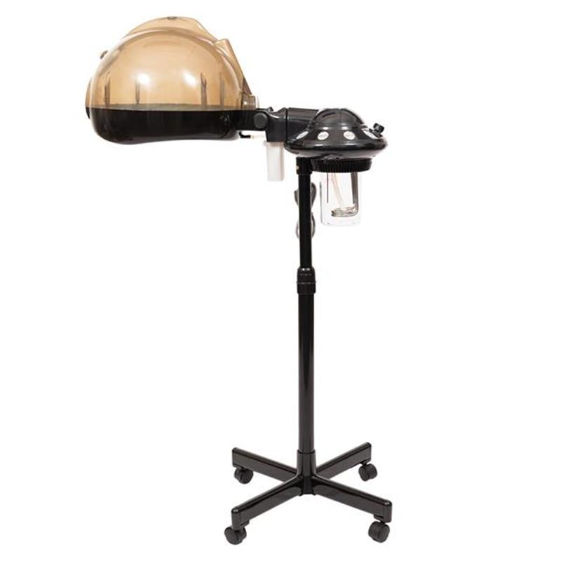 Stand Professional Hair Treatment Steamer Machine Black Salon Hair Hairdressing Care Steamer Rolling Stand Barber Steam Machine