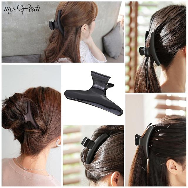 12-10-8pcs/Set Butterfly Hair Clips Woman Girl's Hairpins Styling Holding Tools Hair Section Claw Clamps Pro Salon Accessories 6