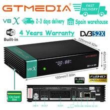 Spanien lager GTmedia V8 Ehre gleiche wie v8x DVB-S2 satellite empfänger gtmedia v7 s2x hd decoder v8 nova schnelle lieferung keine app