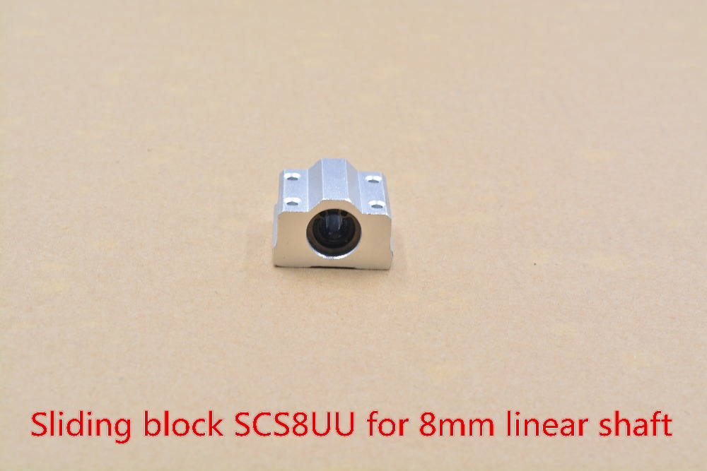 SCS8UU Bearing 8mm Linear  Slide Block With LM8UU For Shaft
