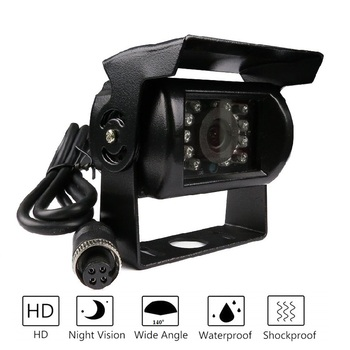 цена на Free shipping!!Free Shipping Brand New 4 Pin 800TVL CMOS IR Night Vision Waterproof Car Rear View Reverse Backup Camera for