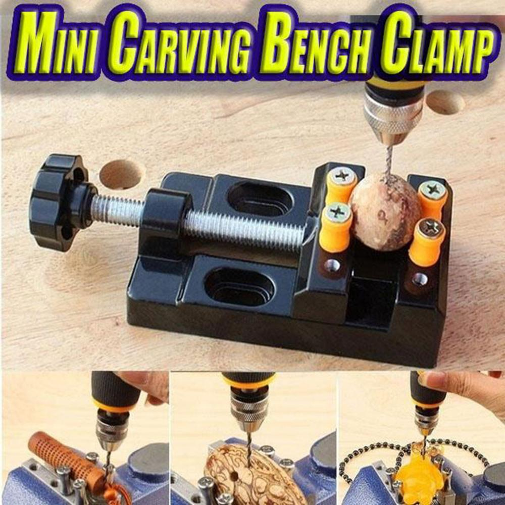 Mini carving vise Telescopic wrench Mini Carving Bench Clamp Drill Press Vice Hand Micro Clip with Screws and Covers @25(China)