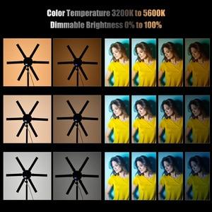 Image 3 - TL 900S דיגיטלי מילוי צילום אור כוכב בצורת מעגל אורות 6 PCS LED צינורות 60W CRI 97 3200K  5600K עבור וידאו חי איפור