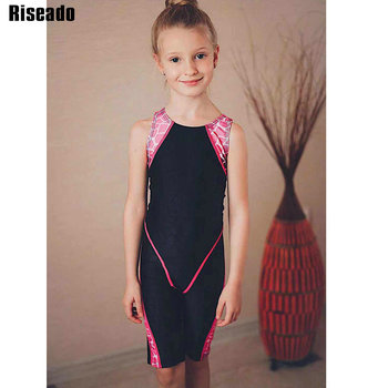 1 8 years old kids swimsuit for girls lovely yellow duck bathing suit children swimsuit princess one piece swimwear swimming cap Riseado Patchwork Sport One Piece Swimsuit 2019 Boyleg Girls Swimwear Racer Back Children Bathing Suit New Swimming 8-12 Years