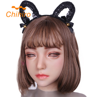 Relastic Silicone Mask Emily Doll for crossdresser masquerade drag queens shemale cosplay mouth Openable transgender Female Skin