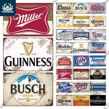 Putuo Decor piwo marka Vintage metalowy znak znak blaszany tablica metalowa płytka dekoracje barowe dla Pub Bar Club Man Cave dekoracje ścienne tanie tanio CN (pochodzenie) Amerykański styl Rectangle TH7007 7 8x11 8inch 1 x Tin Sign 2 x Double Sided Foam Tape
