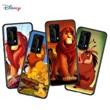 Aslan kral için P40 P30 P20 Pro P10 P9 P8 Lite RU E Mini artı 2019 2017 siyah telefon kılıfı