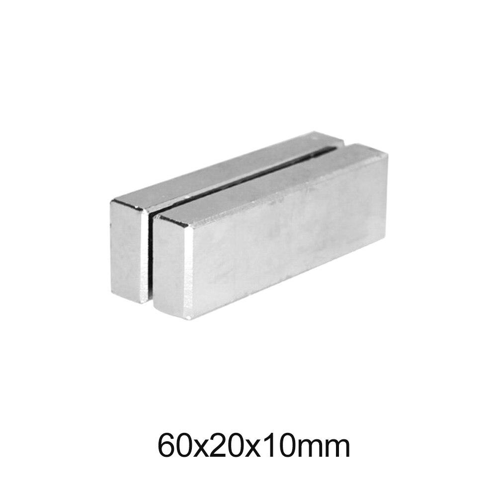 1 ~ 5 шт. 60x20x10 Супер сильная неодимовая магнитная полоса постоянный магнитный блок 60x20x10 мм мощные магнитные магниты 60*20*10 мм Магнитные материалы      АлиЭкспресс