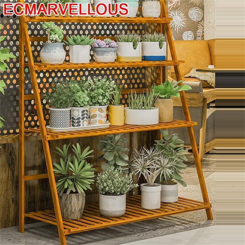 Decorativa Madera Estante Para Plantas Estanteria Jardin Indoor Outdoor Balcony Stojak Na Kwiaty Flower Shelf Plant Stand