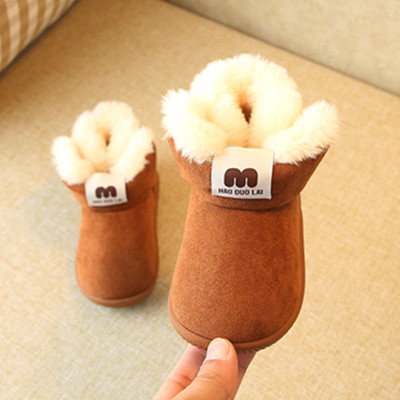Winter Baby Boys Girls Shoes Russia Winter Infants Warm Shoes Faux Fur Girls Baby Booties Leather Girl Baby Boots