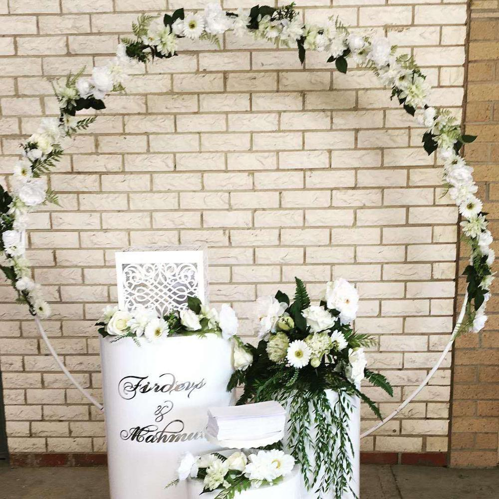 Wrought Lawn Big Birthday 6foot Rack Wedding Outdoor 2 Arch Arch 8foot 5m Door Background Props  Circle Decoration Single Flower