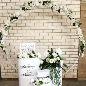 6foot 8foot 2.5m big Circle Wedding Birthday Arch Decoration Background Wrought Props Single Arch flower door rack Outdoor Lawn