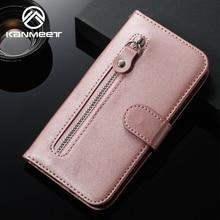 محفظة جلدية حقيبة لهاتف أي فون 6 6S 7 8 Plus X XS Max XR 11 Pro Max سحاب فتحة للبطاقات الوجه حقيبة لهاتف أي فون 6 s 7plus 8plus