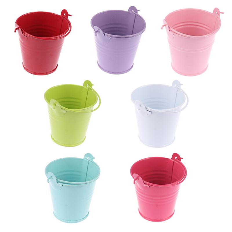 1:6 1:12 Scale Mini Candy Metal Buckets Decoration Miniature Toy Doll Food Kitchen Living Room Accessories for BJD Dollhouse