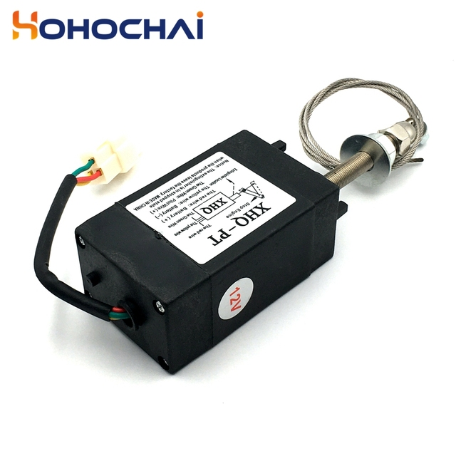 XHQ-PT 12V 24V Power Off pull Type Diesel Engine Accessory Stop Solenoid 4