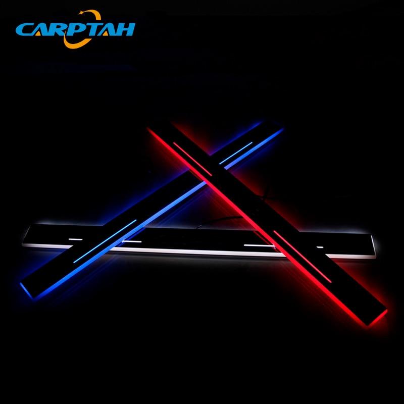 CARPTAH Trim Pedal Car Exterior Parts LED Door Sill Scuff Plate Pathway Dynamic Streamer light For Lexus ES250 ES300h ES350