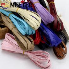Meetee – ruban en cuir PU de 6yards, 10mm de largeur, bande souple pour cheveux, Clips décoratifs pour vêtements en dentelle, bricolage, artisanat manuel, accessoires RC212