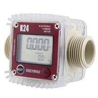 Digital Lcd K24 Flow Meter Turbine Fuel Flow Tester For Chemicals Water Sea Liquid Flow Meters Measuring Tools|Flow Meters| |  -