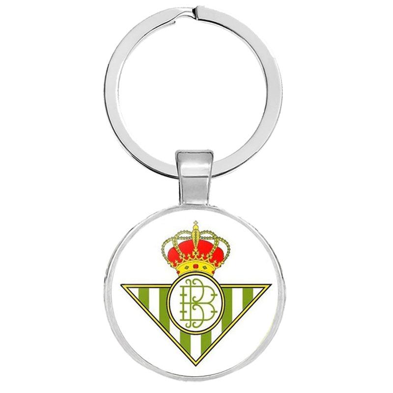 Football Club Logo Keychain Team Logo Keychain Key Ring Key Hoder For Football Fans Glass Cabochon Jewelry