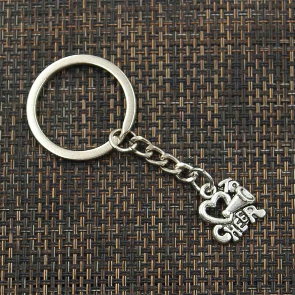 พวงกุญแจแฟชั่น 17x16 มม.Love TO Cheerเชียร์ลีดเดอร์เงินจี้DIYผู้ชายเครื่องประดับแหวนกุญแจรถผู้ถือของขวัญ