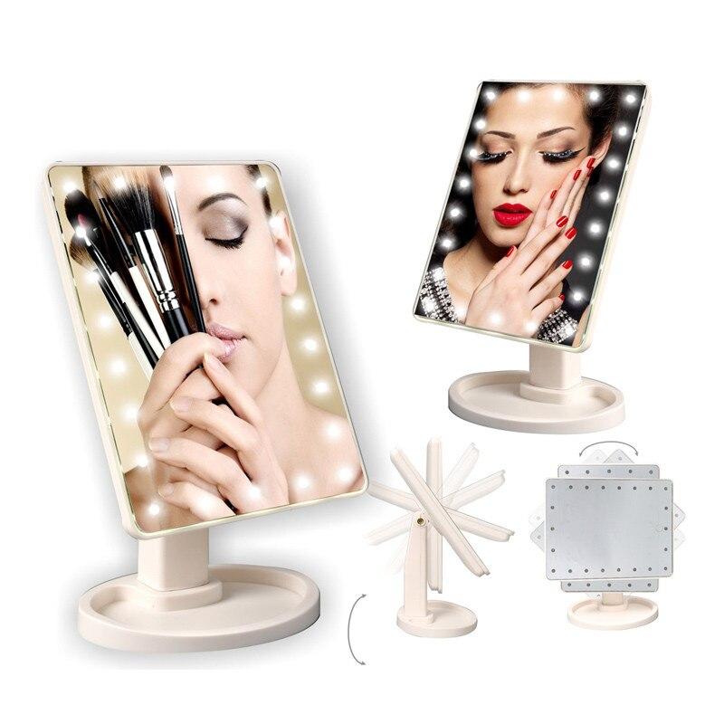 bolso compacto com 16 luzes led espelho de maquiagem
