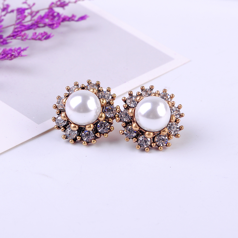 Wholesale Bohemia Acrylic Stud Flower Earring For Women Date Gift Free Shipping Handmade