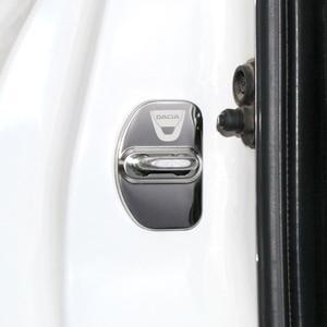 Image 5 - רכב סטיילינג רכב מנעול דלת כיסוי אוטומטי סמלי מקרה לדאקיה Sandero MK2 Stepway 2017 אביזרי רכב סטיילינג 4pcs