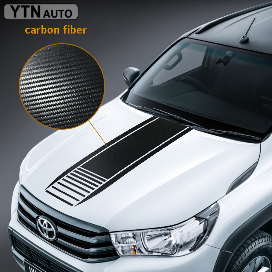 Car Modified Decals 1Piece Hood Scoop Stripe Styling Graphic Vinyl Scratch Stckers Custom For Toyota FORD NISSAN HONDA
