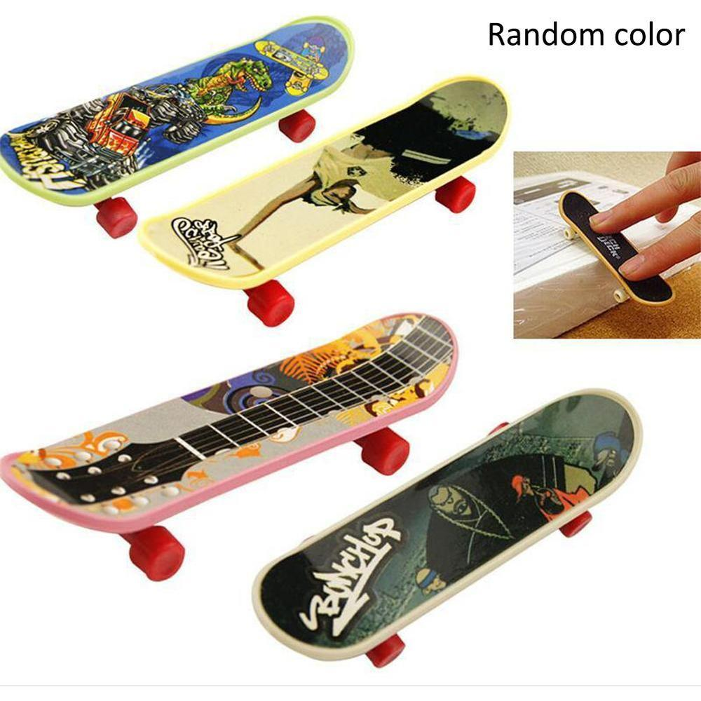 Mini Finger Skateboard Fingerboard Stents Scrub Finger Scooter Skate Boarding Classic Agile Exercise Game Boys Plastic Toys