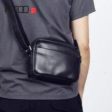 AETOOชายหัวCowhideกระเป๋าสะพายกระเป๋ากระเป๋าชายหญิงCrossbodyกระเป๋ากระเป๋าไหล่เดี่ยว