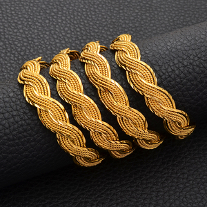 Image 5 - Anniyo 4Pieces Twisted Bracelet for Women Dubai Bangles Ethiopian Bangles African Jewelry Arab Middle East #216506