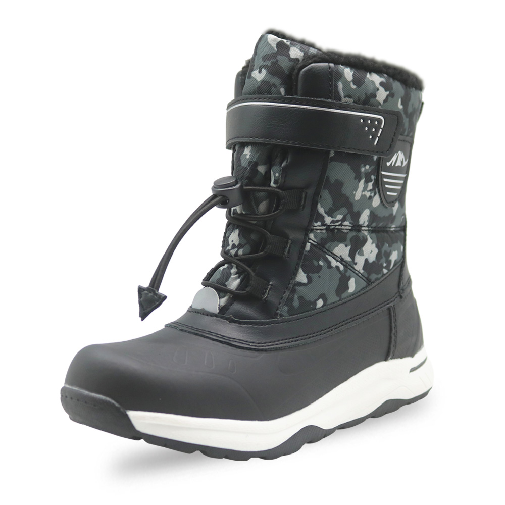 Image 4 - Apakowa Boys Frosty Winter Warm Lamb Lining Snow Boots Little Kids Lightweight Waterproof Cold Weather Non slip Outdoor Boots-in Boots from Mother & Kids