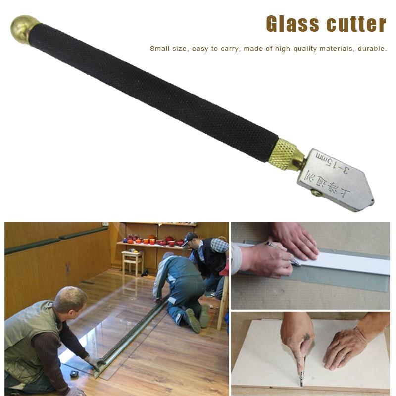 Professional Glass Cutter Diamond Tip Anti-slip Metal Handle 3-15mm Cutting Tool L9 #2
