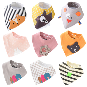 Cotton Bandana Bibs Baby Babador Feeding Smock Infant Triangle Burp Cloths Cartoon Saliva Towel Baby Eating Accessory Kids Stuff cotton bandana bibs baby babador feeding smock infant burp cloths muslin saliva towel baby eating accessory soft baby stuff