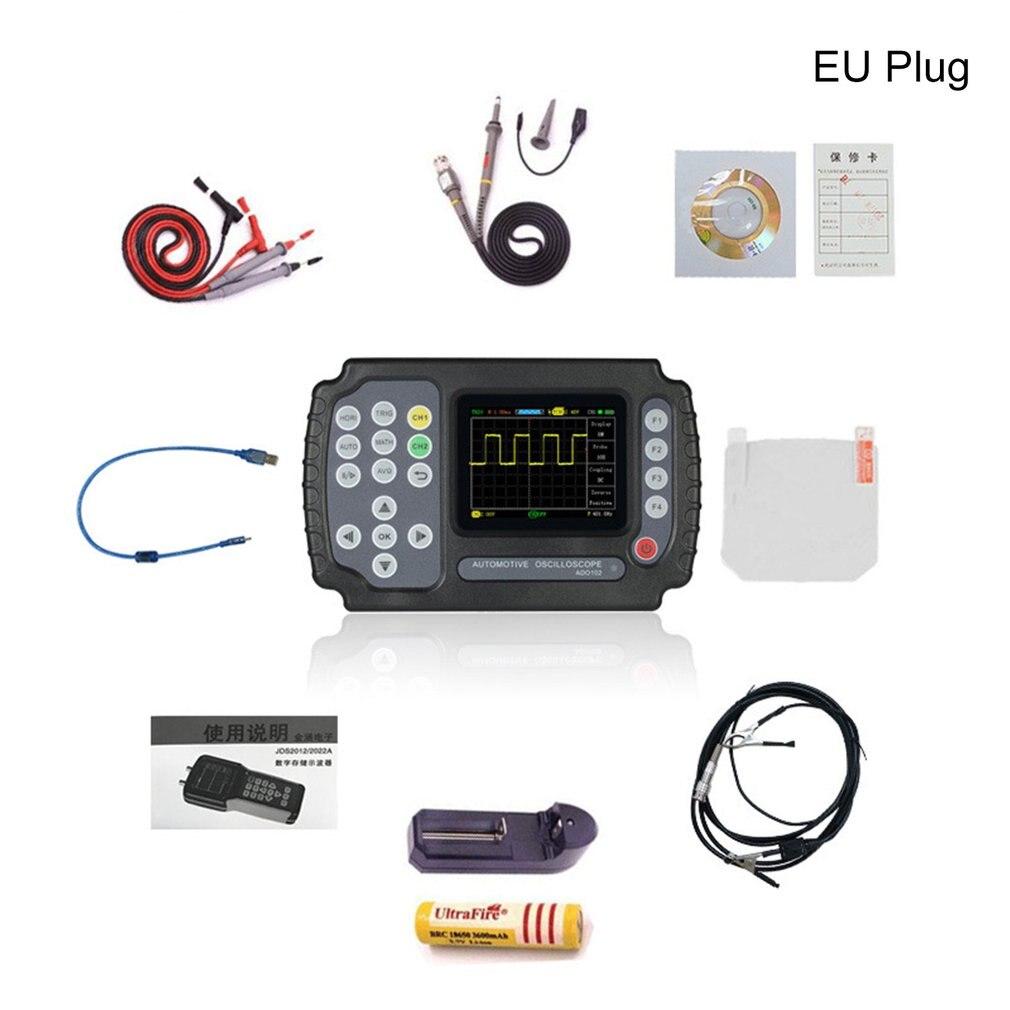 ADO102 Handheld Oscilloscope 100 MSa/s Digital Multimeter Oscilloscope 2 Chnnels Car Repair Automotive Oscilloscope