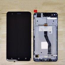 """الأصلي 5.5 """"LCD ل ASUS Zenfone 3 التكبير ZE553KL LCD شاشة تعمل باللمس محول الأرقام الجمعية الإطار ل ASUS ZE553KL LCD عرض"""