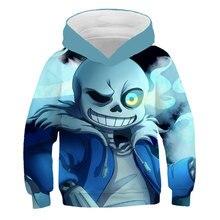 Sweat-shirt à capuche pour enfants de 4 à 14 ans, sweat-shirt imprimé en 3D, veste de dessin animé Harajuku, vêtements pour enfants