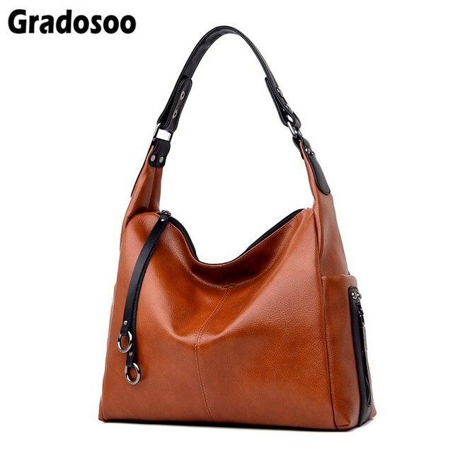 Gradosoo Fashion Zipper Chain Designer Tote Bag Luxury Handbags Women Large Capacity Shoulder Crossbody Bags For Women LBF430