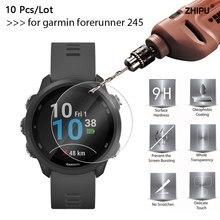 10 unids/lote 9H templado Premium de vidrio para garmin forerunner 245 Protector de pantalla película protectora para Garmin FR 245