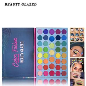 Палитра теней для век, 39 поп-цветов, матовые мерцающие пигментированные цветные металлические цвета, натуральный макияж для растушевки