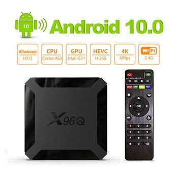 X96Q TV BOX Android 10.0 2020 Allwinner H313 Quad Core H.265 2.4G WiFi 1G+8G/2G+16G 4K Without Subscription Smart tv Box x96Q europ iptv box x96 1g 8g amlogic s905x quad core android 6 0 tv box wifi hdmi 2 0a 4k 2k marshmallow norway denmark sweden