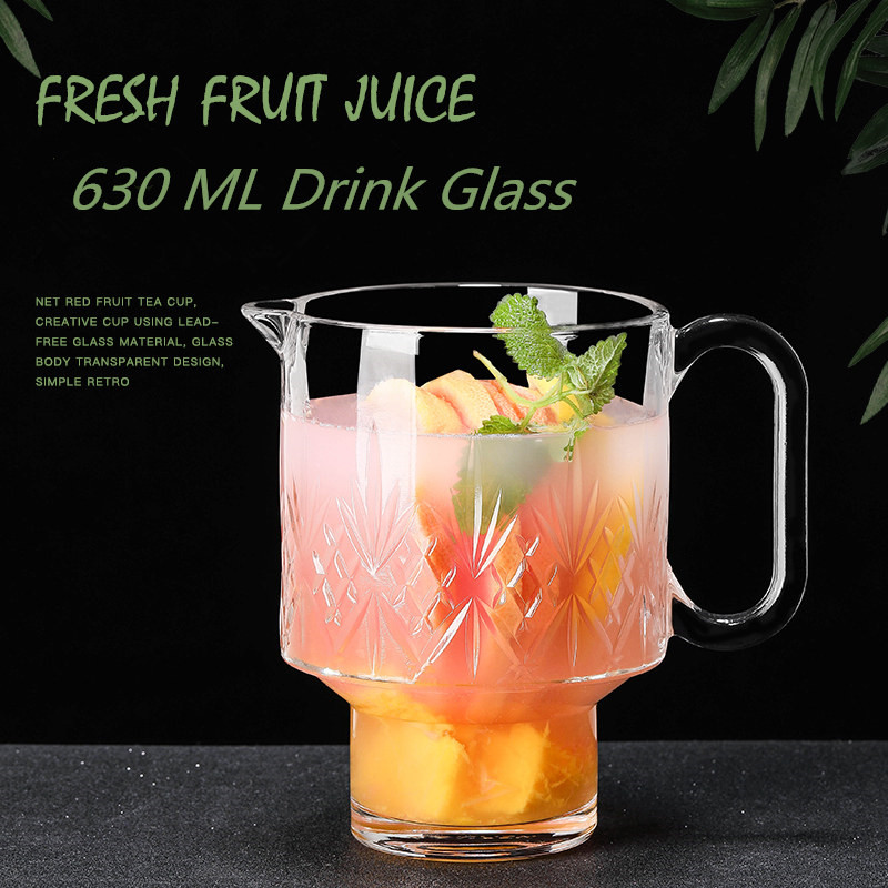 630ML Beer Mugs Drinking Glass <font><b>Set</b></font> Stripe Printing Funny Beer glasses <font><b>Cup</b></font> for <font><b>Coffe</b></font> Tea Juice Wine for Wedding Party Club Bar image