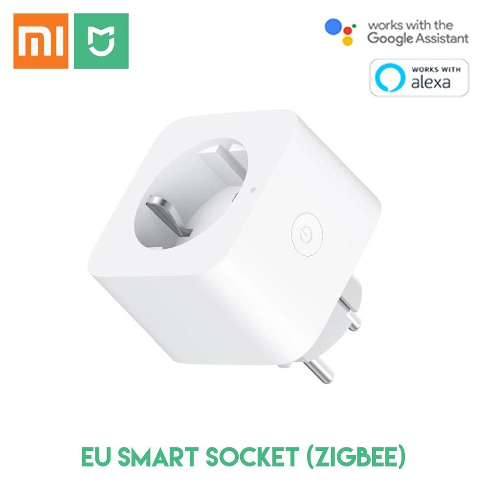 Original Xiaomi Mijia Smart Socket Zigbee Remote Control EU Plug Time Switch Works With Google Assistant Alexa