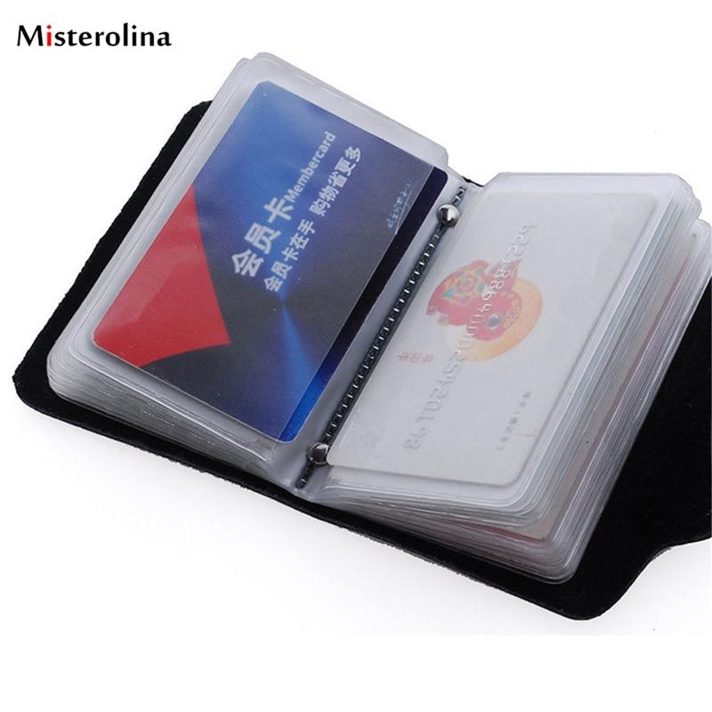 Модный чехол для карт из искусственной кожи, 12/24 бит, держатель для визиток, для мужчин и женщин, сумка для кредитных карт, кошелек для паспор...