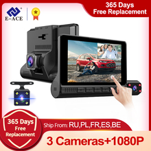 Car Dvr Lens Video-Recorder Dash-Camera E-ACE Touch-Screen Auto Fhd 1080p Support