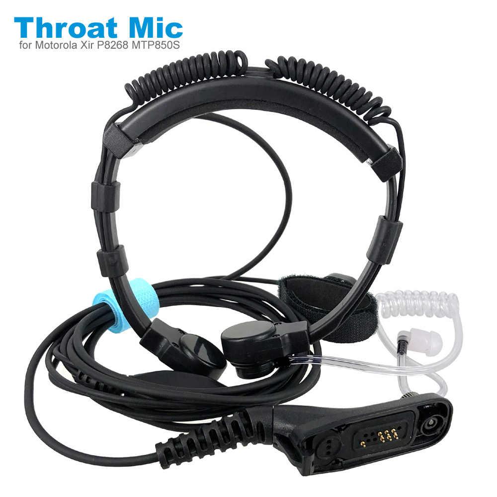 Air หลอดสั่นสะเทือน Throat MIC สำหรับ Motorola XIR P8268 P8200 MTP850S DP3600 APX 2000 DGP8550 Walkie Talkie หูฟัง
